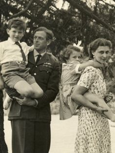 The Duke of Kent, Princess Alexandra, Princess Marina and Prince Edward, England
