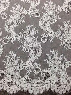 3 Meters White Eyelash Edge Lace Trim Ribbon for Bridal Shawl Lace top Dresses