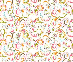 Fiesta Paisley fabric by aimeemarie on Spoonflower - custom fabric