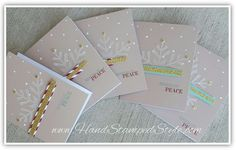 cards made using scraps and pieces from Watercolor Winter Card Kit from Stampin' Up!