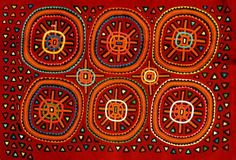 La Mola is the textile art made by the Kuna Indians from Colombia and Panama. Textile Texture, Art Textile, Pattern Art, Pattern Design, Print Patterns, Illustration Photo, Illustrations, Reverse Applique, Indigenous Art