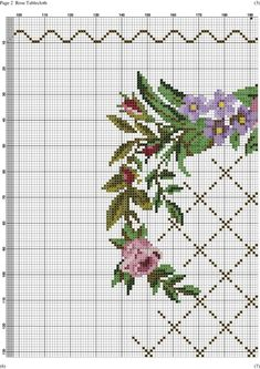 This Pin was discovered by Arz Cross Stitch Pillow, Cross Stitch Rose, Cross Stitch Flowers, Cross Stitch Charts, Cross Stitch Patterns, Cross Stitching, Cross Stitch Embroidery, Embroidery Patterns, Baby Dress Pattern Free