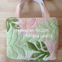 ハワイアンキルト プルメリアバック S - Moana Lani Hawaiian Quilt