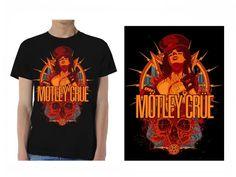 Gildan MOTLEY CRUE Girl Skull men t shirt