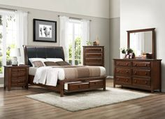 Shop Progressive Furniture Cotswold Grove Bedroom Set with Queen Bed with great price, The Classy Home Furniture has the best selection of Master bedroom Complete Sets to choose from King Bedroom Sets, Home, Bedroom Headboard, Bedroom Storage, Large Furniture, Bed, Furniture, Bed Sizes, Bedroom Furniture