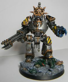 Iron Warriors Contemptor Class Dreadnought converted from the Forgeworld loyalist model. From the bowels of the B.