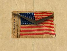 old American flag envelope....love...