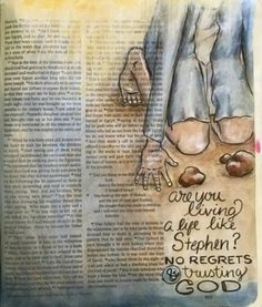 Acts Bible, Bible Scriptures, New Bible, Bible Love, Journal Art, Art Journaling, Letters To God, Bible Journaling For Beginners, Bible Drawing