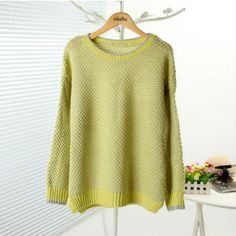 2013 New Cut-out Design Contrast Colored Sweater $28.99