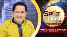 SPOTLIGHT by Pastor Apollo C. Quiboloy • November 7, 2019 Spiritual Enlightenment, Spirituality, Disciple Me, Vice Ganda, Power Of The Tongue, Social Media Pages, Great Leaders, Son Of God, Praise And Worship