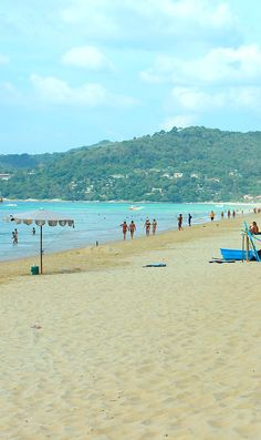 December 29, 2012 Enjoying sunny Karon beach in Phuket Thailand.