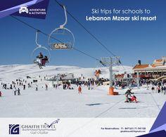Ski trips for schools to Lebanon Mzaar ski resort PROGRAM INCLUDING  - Ski and Snowboard School http://on.fb.me/1NQLGCB