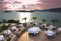 Las Brisas Acapulco in Acapulco, Mexico.  We had a very romantic dinner over looking the bay - candlelight and wine.