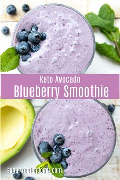 Perfect Low Carb Keto Blueberry Smoothie