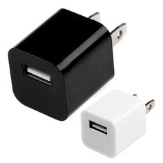 Universial USB AC Charger for Apple iPhone 4 / 4S / 5, iPod - White/ Black