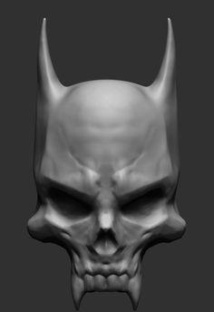 Resultado de imagem para demon skull 3d model