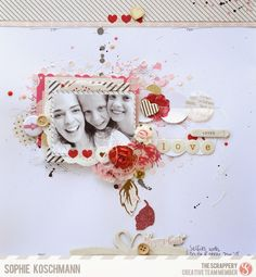 The Scrappery Kit Club Blog: CT member Sophie layout.