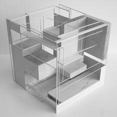 12 Architecture School Portfolio Tips Module Architecture, Cubic Architecture, Concept Models Architecture, Architecture Portfolio, Futuristic Architecture, Interior Architecture, 3d Modelle, Cube Design, Arch Model