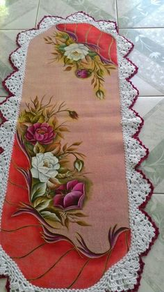 Hobbies And Crafts, Diy And Crafts, Appliance Covers, Crochet Baby Cocoon, One Stroke Painting, Flower Tattoo Designs, Hand Embroidery Designs, Fabric Painting, Beautiful Paintings
