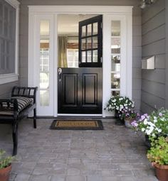 FRONT DOOR IDEAS – Among the very first points about a house that a guest or home buyer notices are the front doors. If you wish to make a statement, upgrading or overhauling your front door … Cute House, My House, Houses Architecture, Entry Doors, Front Doors, Half Doors, Door Entryway, Porch Entry, Entryway Ideas