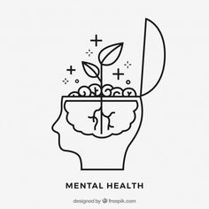 Hand drawn mental health concept Free Ve. Mental Health Art, Mental Health Tattoos, Brain Logo, Brain Art, Psy Art, Health Logo, Vector Photo, Free Stickers, Grafik Design