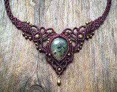 Macrame set boho jewelry Custom order by creationsmariposa