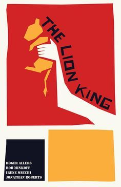 This is a poster by Saul Bass for 'The Lion King'. He has used geometric shapes, bold colours and his own hand written type. Saul Bass Posters, Movie Posters, Lion King Poster, Prince Paul, Plakat Design, New York School, We Will Rock You, Keys Art, Design Graphique