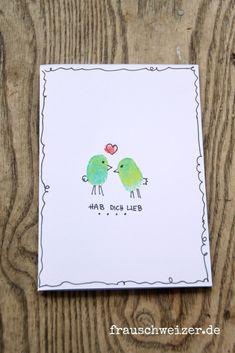 New handmade cards to watch – Ms. Diy Birthday, Birthday Cards, Fingerprint Art, Valentine's Day Diy, Cards For Friends, Diy Cards, Handmade Cards, Handicraft, Presents