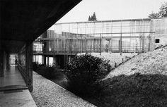 "Neuropsychiatric Hospital in Mendrisio Mendrisio, Ticino, Switzerland; 1973-75 Aurelio Galfetti (photography by Solange Galfetti) ""see map """