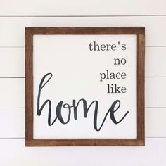 There's No Place Like Home Wood Sign by SpringMeadowCo Wooden Wall Plaques, Wood Wall Art, Wooden Signs, Woodworking Business Ideas, Woodworking Plans, Woodworking Projects, Wood Signs For Home, Home Signs, Wall Art Quotes
