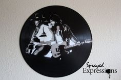 Items similar to Bruce Springsteen Vinyl Record Painting on Etsy Spray Paint Artwork, Spray Painting, Bruce Springsteen, Vinyl Art, Vinyl Records, Unique Jewelry, Handmade Gifts, Pictures, Etsy