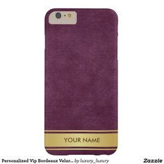 Personalized Vip Bordeaux Velur Gold Stripes Case Barely There iPhone 6 Plus Case