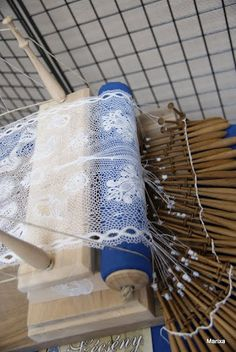 Unusual configuration for a bobbin lace pillow