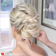 New hairstyle who this by sweethearts hair flechtfrisuren die schnsten ideen frs haar styling Bridal Hair Updo, Wedding Hair And Makeup, Loose Bridal Hair, Hair Wedding, Hair Makeup, Bride Hairstyles, Updo Hairstyle, Loose Bun Hairstyles, Chignon Updo