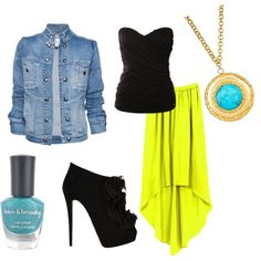 turquoise, Jean, lime & black...yes!