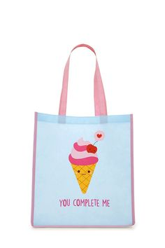 Ice Cream Graphic Tote Bag