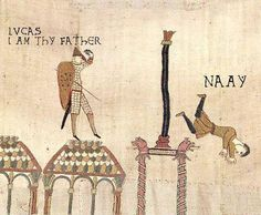 Funny pictures about Medieval Star Wars Plot. Oh, and cool pics about Medieval Star Wars Plot. Also, Medieval Star Wars Plot photos. Classical Art Memes, Starwars, Star Wars Poster, History Memes, Art History, History Major, Cadeau Star Wars, Dark Vader, Bayeux Tapestry
