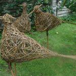 willow bird sculptures