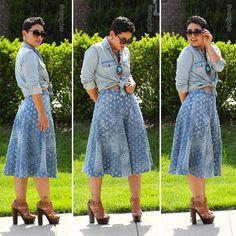 DIY Denim Culottes + Pattern Review B6179 - Mimi G Style