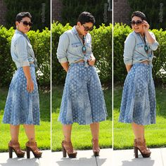 DIY Denim Culottes + Pattern Review B6179 - Mimi G Style