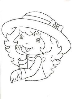 Cantinho da Ana Paula: Riscos de bonecas para pano de prato