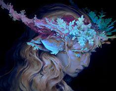 Satyress by Victor Quaresma - The Art Showcase Character Design Inspiration, Painting Inspiration, Art Inspo, Pretty Art, Cute Art, Wow Art, Aesthetic Art, Amazing Art, Art Reference