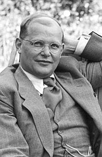 Dietrich Bonhoeffer - Wikipedia, the free encyclopedia:  2/1906-41945, he was a German Lutheran pastor, theologian and anti-Nazi.  He was involved with plans to assassinate Hitler.  He was hanged by the Gestapo 23 days before the Nazis' surrender.