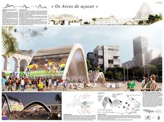 [A3N] : Symbolic World Cup Structure Competition - RIO DE JANEIRO (Mention 01 : Os Arcos de acucar ) / Agathe Marimbert, Elsa Arsenault, Mathieu Terne ( France).