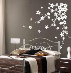 cherry  blossom wall decals flower vinyl wall decals tree by cuma, $45.00