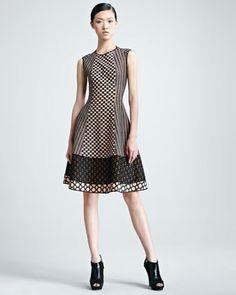 Sleeveless Paneled Dress - Neiman Marcus