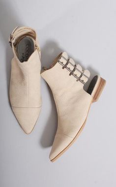 these ivory booties are perfect! 15% off with code RIFFRAFFREPCASSIE + free shipping! (Less than $100!)