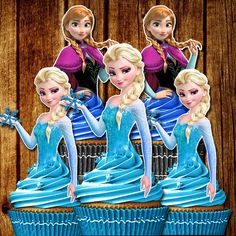 12 congelados Cupcake Toppers toppers de por FancymyCupcakeTopper