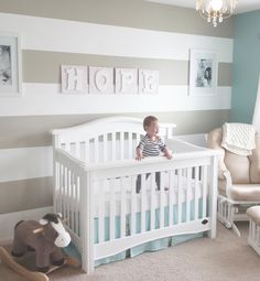 Picket Fence Baby Bedding from New Arrivals, Inc. #neutralbabybedding