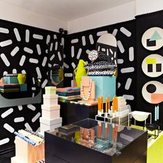 Darkroom currently looks like an explosion at a liquorice allsorts factory as it plays host to the So Sottsass Season, a rather splendidly shouty collection of candy-coloured geometry-driven products based on the work of Italian architect and designer Ettore Sottsass...